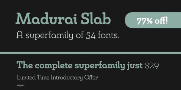 119316 580x290 - Font dňa – Madurai Slab (rodina 17,02$)