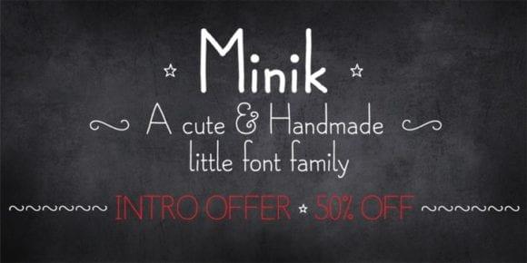 119685 580x290 - Font dňa – Minik (zľava 50%, od $8.00)