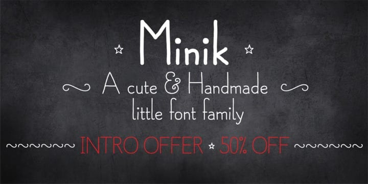 119685 - Font dňa – Minik (zľava 50%, od $8.00)