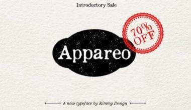 119933 380x220 - Font dňa – Appareo (zľava 70%, od 3,60$)