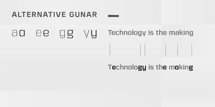 121332 - Font dňa – Gunar (od 3,20$, komplet $27,90$)