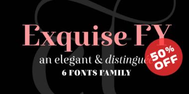 122503 1 380x190 - Font dňa – Exquise FY (zľava 50%, od 17,50€)