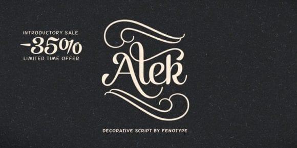 123967 580x290 - Font dňa – Alek (zľava 35%, od 11,04 €)