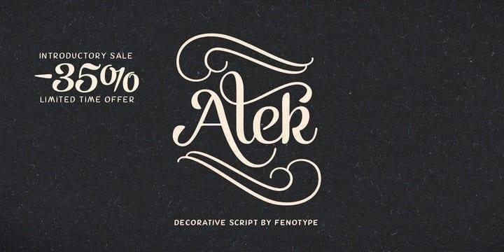 123967 - Font dňa – Alek (zľava 35%, od 11,04 €)