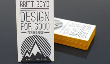 brittboyd 380x220 - Vizitky, ktoré sa vám otlačia do pamäte – letterpress business cards I.