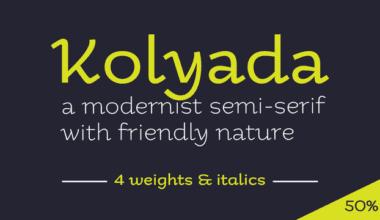 110816 380x220 - Font dňa – Kolyada (zľava 50%, od 14,50$)