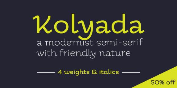 110816 580x290 - Font dňa – Kolyada (zľava 50%, od 14,50$)