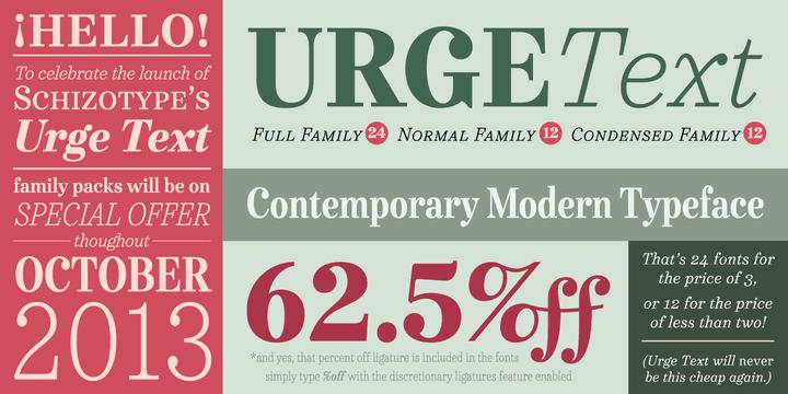 124558 - Font dňa – Urge Text (od 38,91€)