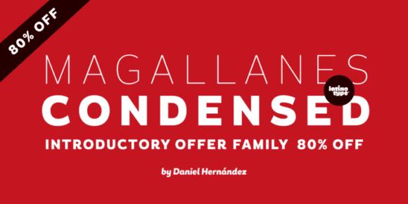 125218 580x290 - Font dňa – Magallanes Condensed (rodina 44,25€)