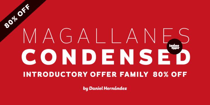125218 - Font dňa – Magallanes Condensed (rodina 44,25€)