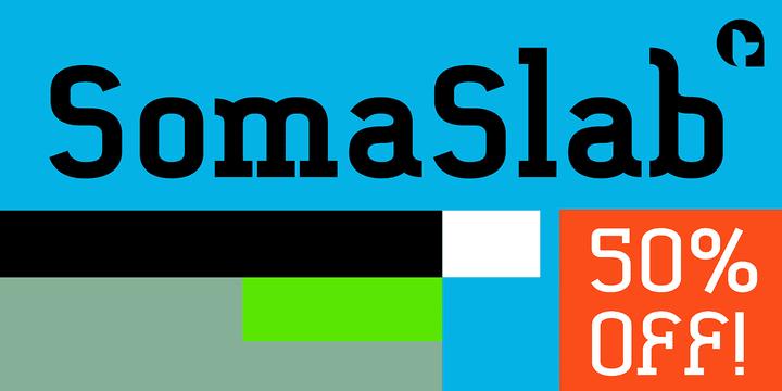 125570 - Font dňa – SomaSlab (od €10,75€, komplet 36,69€)