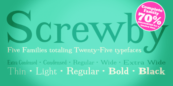 126117 580x290 - Font dňa – Screwby (komplet $75.00)