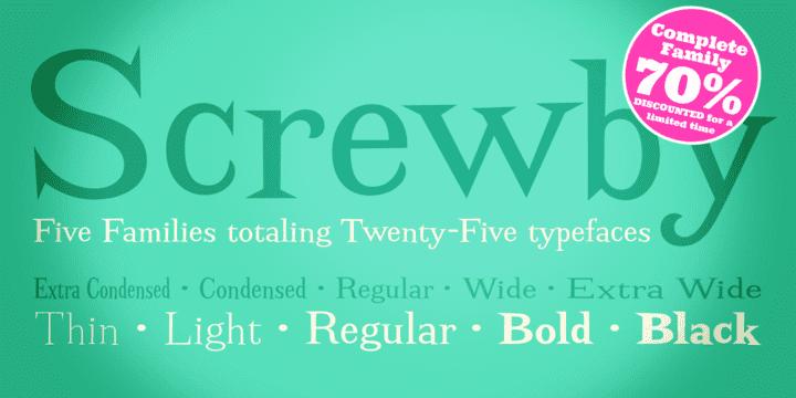 126117 - Font dňa – Screwby (komplet $75.00)