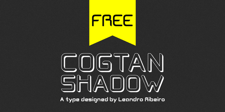 124505 - Font dňa – Cogtan Shadow (zadarmo)