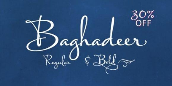 125846 580x290 - Font dňa – Baghadeer (zľava 30%, od 34,30$)