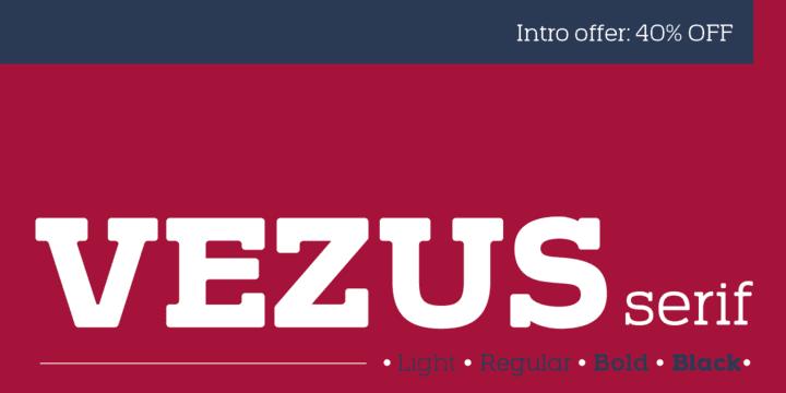 126552 - Font dňa – Vezus Serif (zľava 40%, od 18,00$)