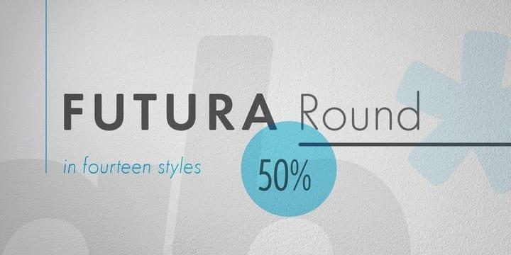 126964 - Font dňa – Futura Round (zľava 50%, od 9,98$)