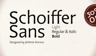 127994 380x220 - Font dňa – Schoiffer Sans (zľava 50%, od 7,00 €, rodina 21,00 €)