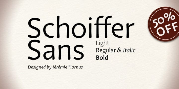 127994 - Font dňa – Schoiffer Sans (zľava 50%, od 7,00 €, rodina 21,00 €)