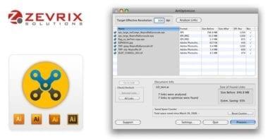 Zevrix ArtOptimizer1 380x197 - ArtOptimizer – automatické zmenšovanie veľkosti linkovaných obrázkov pre Illustrator