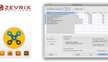 Zevrix ArtOptimizer1 380x220 - ArtOptimizer – automatické zmenšovanie veľkosti linkovaných obrázkov pre Illustrator