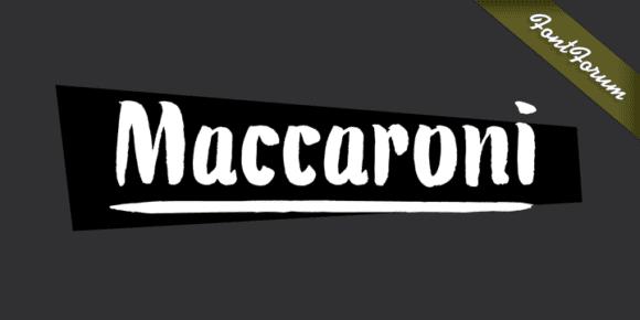 126440 580x290 - Font dňa – Maccaroni (zľava 50%, 19,50$)