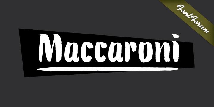 126440 - Font dňa – Maccaroni (zľava 50%, 19,50$)