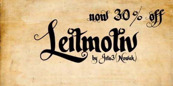 127162 580x290 - Font dňa – Leitmotiv (zľava 30%, od 25,20$)
