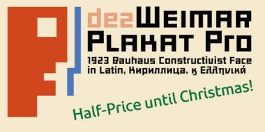 128424 380x190 - Font dňa – Dez Weimar Plakat Pro (zľava 50%, 10,00$)