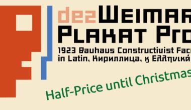 128424 380x220 - Font dňa – Dez Weimar Plakat Pro (zľava 50%, 10,00$)