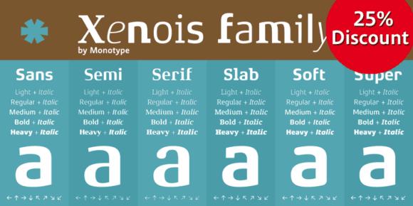 129051 580x290 - Font dňa – Xenois Serif Pro (zľava 25%, od 26,25$)