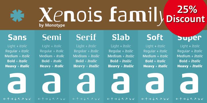 129051 - Font dňa – Xenois Serif Pro (zľava 25%, od 26,25$)