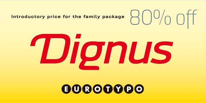 129345 - Font dňa – Dignus (zľava 80%, rodina $76.00)