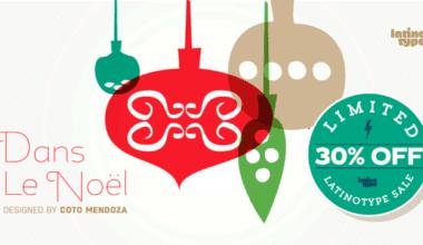 129432 380x220 - Font dňa – Dans Le Noël (zľava 30%, 20,30$)