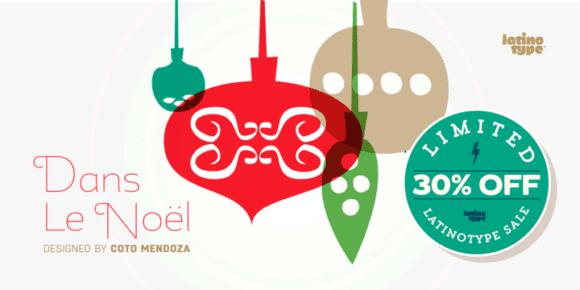 129432 580x290 - Font dňa – Dans Le Noël (zľava 30%, 20,30$)