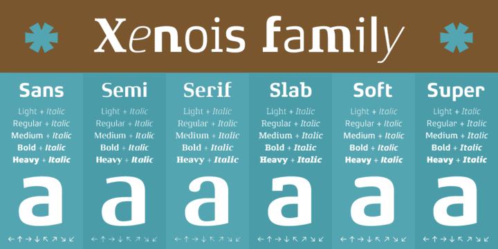 129753 - Font dňa – Xenois Serif Pro (zľava 25%, od 26,25$)