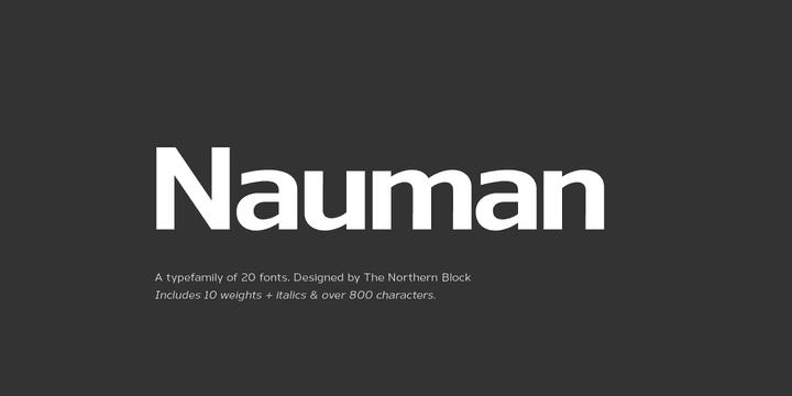 130110 - Font dňa – Nauman (zľava 90%, od 3,20$)