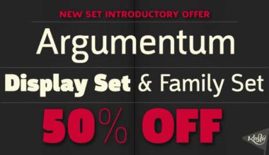 130191 380x220 - Font dňa – Argumentum (zľava 50%, od 50$)