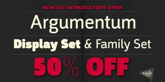 130191 580x290 - Font dňa – Argumentum (zľava 50%, od 50$)