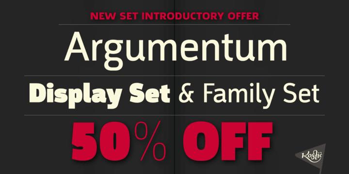 130191 - Font dňa – Argumentum (zľava 50%, od 50$)