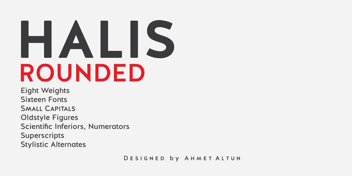 99285 - Font dňa – Halis Rounded