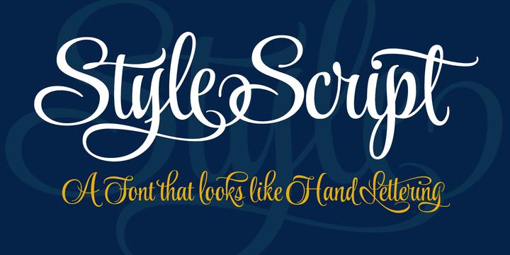 113144 - Font dňa – Style Script (zľava 25%, od 5,25 €)