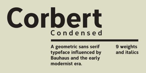 1197871 580x290 - Font dňa – Corbert Condensed (zľava 50%, od 0,00 €)