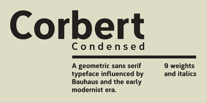 1197871 - Font dňa – Corbert Condensed (zľava 50%, od 0,00 €)