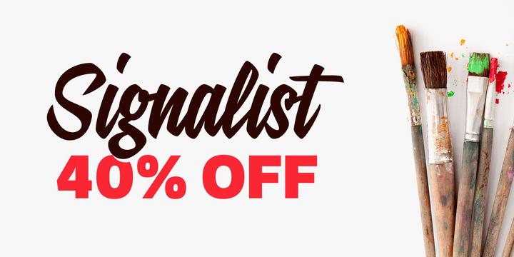 132121 - Font dňa – Signalist (zľava 40%, 15,00 €)