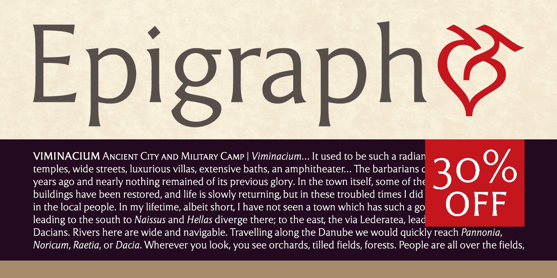 133128 - Font dňa – Epigraph (zľava 30%, od 14,00 €)