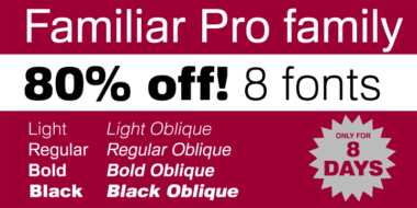 133145 380x190 - Font dňa – Familiar Pro (zľava 80%, komplet 8€)