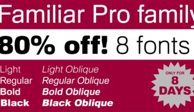 133145 380x220 - Font dňa – Familiar Pro (zľava 80%, komplet 8€)