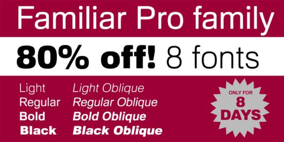 133145 580x290 - Font dňa – Familiar Pro (zľava 80%, komplet 8€)