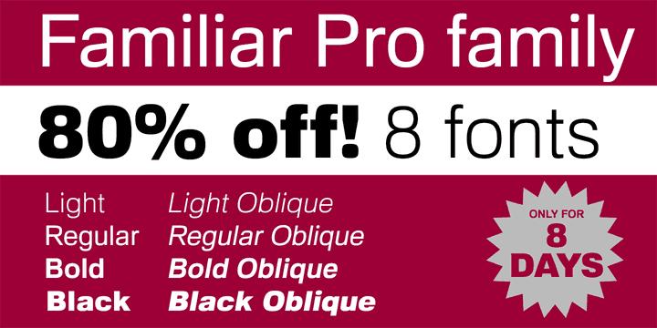 133145 - Font dňa – Familiar Pro (zľava 80%, komplet 8€)